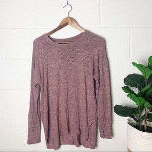 American Eagle Plush Pink Long Sleeve Top